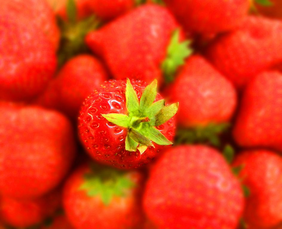 Strawberry in a Punnet by June Atkinson